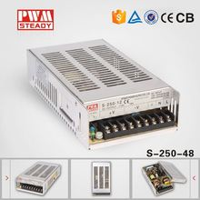 250w 48vdc / 48 volt 5a power supply meanwell Style ac/dc SMPS CE Approved