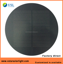 A-grade Monocrystalline 5.5V 1W round shape frosted PET solar panel with factory price