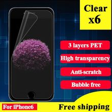 Ultra Clear Screen Protector For Iphone 6 6S Film Protector For Iphone 6 Screen Protector Clear For Iphone 6 Protective Film 6pc