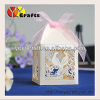Free logo Decorate Peacock design laser cut christmas gift boxes christmas paper box chocolate box