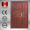 YIJIA powder coating mother and son door, steel double doors exterior YJRH14