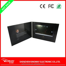 Customize HOT selling 4.3 inchLCD Tft Video Greeting Card,480x272,128MB memory, support AMV/MP4/AVI, video format