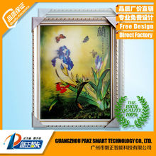 Depth 3D Lenticular flower picture with frame wall hanging picture