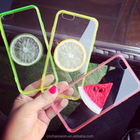 3D fresh fruit pattern arcylic TPU mobile phone case cover for iphone 5 5s 6 6s 6plus CO-MIX-9043