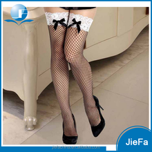 women's sexy big fishnet white lace stockings