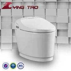 Intelligent colourful new style toilet floor mounted ceramic water closet p trap