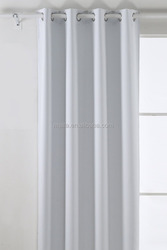 Room Darkening Thermal Insulated Blackout Grommet Window Curtain Panel For Nursery Room, White,52x95-Inch