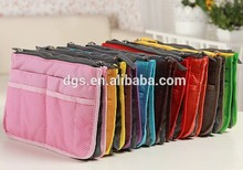 Handbag purse dual organizer insert cosmetic storage nylon bag cosmetic bag organizer