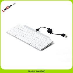 Universal bluetooth wireless keyboard for ipad ,PC ,smart phone BK6200