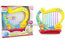 Luz jogar crianças brinquedos educativos instrumento musical harpa