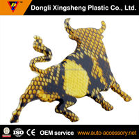 Cow 3D decal chrome auto sticker badge emblem