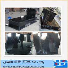 shanxi black double tombstone headstone monument