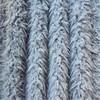 grey long pile lion fleece fabric for women apparel