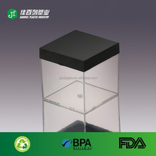 Wholesale PET Candy Storage Food Grade Plastic Clear hard boxes