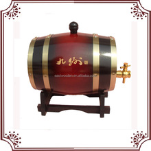 Eco-friendly customed wholesale wood wine barrels, solid wood bucket, christmas packaging wine box