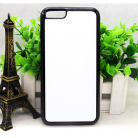 DIY printing blank 2D sublimation cell phone case for iphone 6 plus 5.5 plastic tpu back cover free shipping