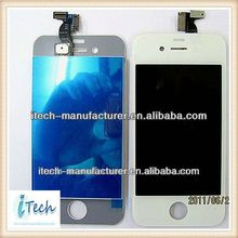 original new cellphone/mobile phone parts for apple iphone 4g conversion kits--transparent normal black