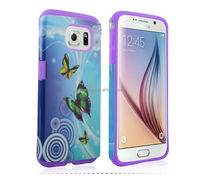 Wholesale OEM Protective Case For Samsung Galaxy S6 pc+silicone case