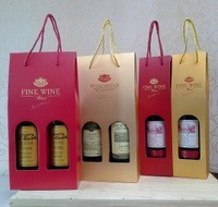 HIGH QUALITY BROWN KRAFT PAPER WINE BOTTLE PACKAGING BAGS WITH CLEAR WINDOW