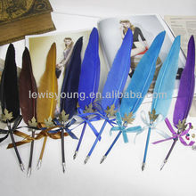 compact quill feather pens