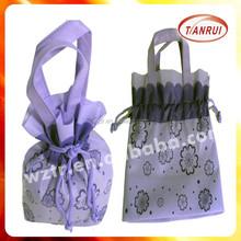 Great popular custom high quality handled style gift drawstring bag