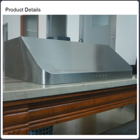 """Hyxion 30"""" Convertible Wall Mount Stainless Steel Ductless/Ventless Range Hood with 900 CFM centrifugal blower (HRH3002U)"""
