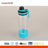 18oz / 22oz Tritan Plastic sport bottle With Sports Lid And Silicone Band