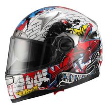 2015 ECE/DOT double visor JX-FF001 fashion free motorcycle helmetspersonalized motorcycle helmets unique design