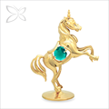 caliente la venta especial de metal bañado en oro unicornio para la decoración del hogar