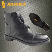 Popular design good quality cow leather genuine high men army high ankle boot