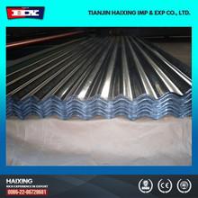 Dx51d chapa de aço ondulada galvanizado Roofing folha usado para coberturas