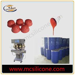 RTV silicone liquid rubber for pad printing application
