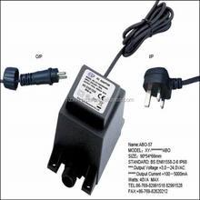 240v ac to 24v ac waterproof transformer outdoor using