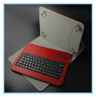 wholesale Leather+ABS branding wired/wireless vertical keyboard case