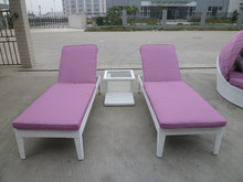 Daybed patio sun lunge outdoor rattan chaise sun bed