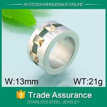 artificial star steel time statement jewelry ring