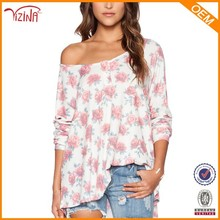 Wholesale High Quality Fashion Printing Women Off The Shoulder T Shirts With Online Shopping