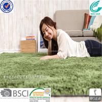 popular long pile 100% polyester microfiber plain carpet