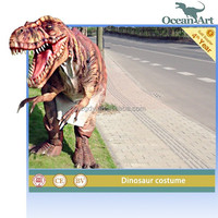 Animated Robotic Dinosaur Apparel Walking With Dinosaur