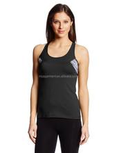 Custom 100% polyester fitness gym yoga tank top gym women
