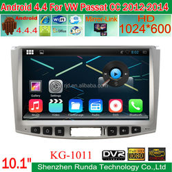 "10.1"" GPS Navigation for VW Passat CC 2012-2014 with Android 4.4.4 System 1.6GHz Cortex A9 Dual-core"