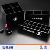 Yageli black acrylic makeup case storage/makeup brush stand&holder