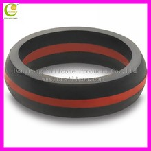 2015 Excellent engagement ring , 9mm men silicone wedding ring , heart-shaped stainless steel ring