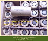 China manufacturer ni-mh sc2500mah rechargeable battery 1.2v 2500mah with solder tabs