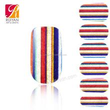 Korea Nail Sticker Printer, Custom Glitter Full Cover Nail Wrap Sticker PCB011