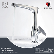 Chrome plated brass hot cold water mixer tap