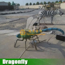 Outdoor playground silicon rubber remote control moving dragonfly