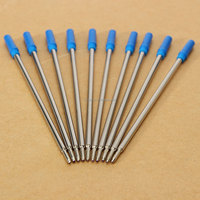 10pcs/lot Lowest Price For Cross Type Ballpoint Pen Refills ink medium & blue Accessory Suitable For School Home Office