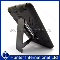 Normal Black PC+Silicon Defender Case For iPadMini