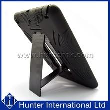 Normal Black PC+Silicon Defender Case For iPadMini